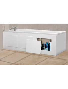 Croydex Storage Bath Panel Gloss White - WB715122