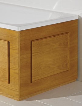 Croydex Kingston Storage Bath End Panel Oak Veneer - WB685076