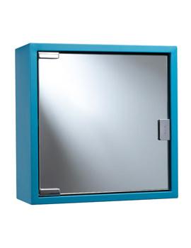 Croydex Blue Coloured Steel Mirror Cabinet - WC870224