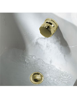 Bristan Combined Gold Bath Fill And Over Flow - W FILL G