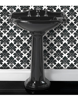 Drift 660mm Large Basin With Large Pedestal Black