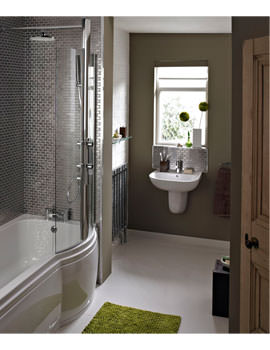 Prism Left Hand Shower Bath With Screen And Concealed Valve