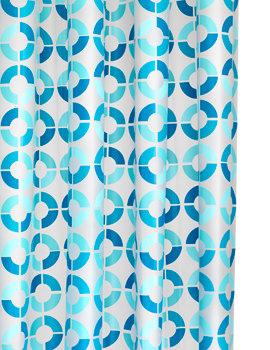 Croydex Mosaic Rings PEVA Vinyl Shower Curtain - AE287424