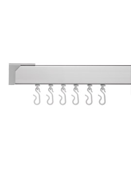 Made-To-Measure Profile 400 L Shaped Curtain Rail Silver