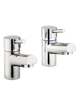 Related Lauren S4 Basin Pillar Taps Chrome - MBGO140N