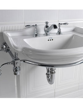 Imperial Hardwick Chrome Basin Stand With Drift Large Basin