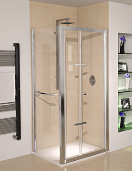 Aqua 8 Glide Bifold Door Polished Silver 900mm - FEN1240AQU
