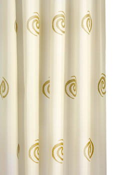 Croydex Gold Swirls Textile Shower Curtain - AF553817