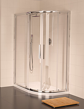 Aqualux Aqua 8 Glide Offset Quadrant Enclosure 1200 x 900mm - FEN1247AQU