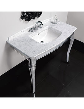 Imperial Oban Marble Console With Westminster Under Counter Basin And Stand