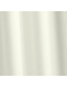 Croydex Ivory Phthalate Free PVC Vinyl Bath Curtain with Hooks