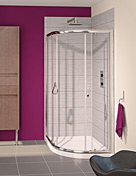 Aqualux Aqua 6 Offset Quadrant Shower Enclosure 1200 x 900mm
