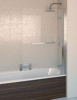 Aqualux Aqua 8 Hinge Square Bath Screen 950mm - FBS0315AQU