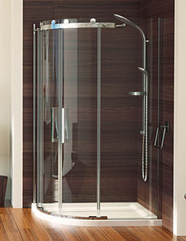 Aqualux Aqua 8 Roller Offset Quadrant Enclosure 1200 x 900mm