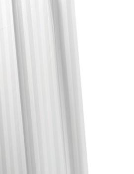 Croydex White Woven Stripe Textile Shower Curtain - AF286122