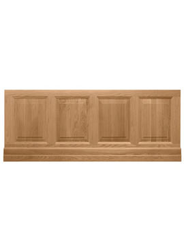 1800mm Raised And Fielded Bath Front Panel Natural Oak