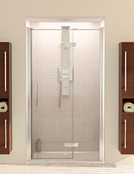 Aqualux Aqua 8 Hinge Pivot Door With Fixed Panel 1200mm - FEN1227AQU