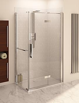 Aqua 8 Hinge Pivot Door With Fixed Panel 1200mm x 800mm Panel