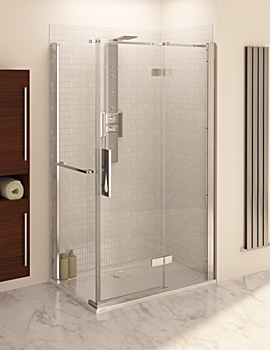 Aqua 8 Hinge Pivot Door With Fixed Panel 1200mm And 760mm Panel