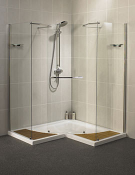 Aqualux Aquaspace Corner Walk Through Shower Enclosure - FEN0536AQU