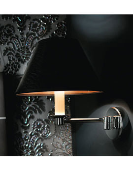 Imperial Brokton Wall Light With Black Leather Shade - XLP1000100