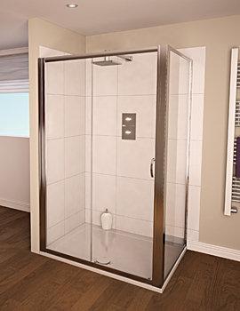 Aqualux Aqua 4 Sliding Shower Door 1200mm Polished Silver - FEN1145AQU