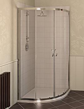 Aqualux Aqua 4 Quadrant Shower Enclosure 800 x 800 Silver - FEN1190AQU
