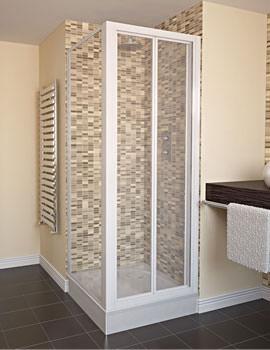Aqualux Aqua 4 Bi-Fold Shower Door 900mm White - FEN1117AQU