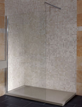 Just Trays JTView Corner Deflector Shower Panel 800 x 1900mm