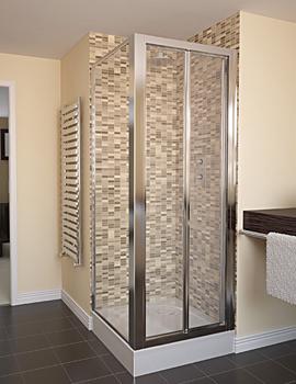 Aqualux Aqua 4 Bi-Fold Shower Door 800mm Polished Silver - FEN1114AQU