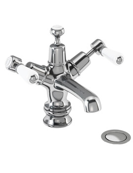 Kensington Regent Basin Mixer Tap With Click Clack Waste KER6