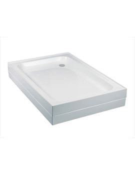 Just Trays JTMerlin 4 Upstand Rectangular Shower Tray 1000 x 760mm