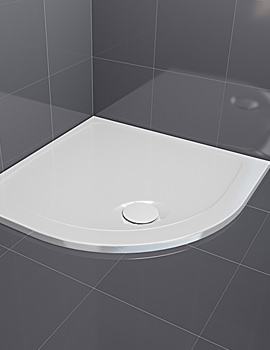 Aqualux Aqua 30 Quadrant Shower Tray 800 x 800mm - FTR0506AQU