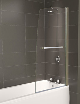 Aqua 5 Half Frame Bath Screen 800 x 1500mm - FBS0239AQU