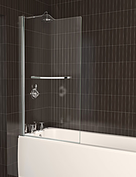 Aqua 5 Stepped Bath Screen 820 x 1500mm - FBS0067AQU