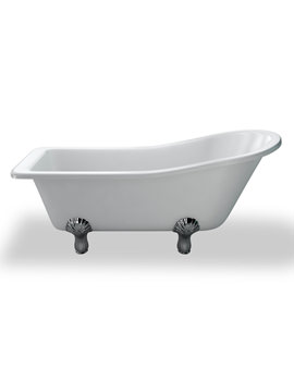 York Slipper 1700mm Traditional Bath With White Arc Feet