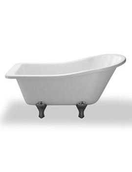 York Slipper 1500mm Traditional Bath With White Arc Feet