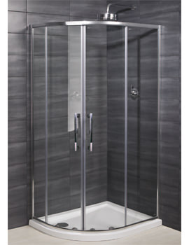 RAK Deluxe 8 Double Door Offset Shower Quadrant 1200 x 800mm