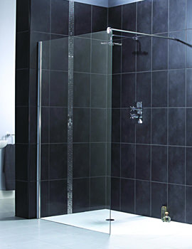 Shine Shower Panel 900mm Polished Silver - FEN1012AQU