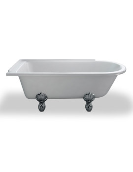 Kensington Traditional Bath 1700mm With White Claw Feet LH