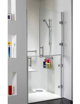 Ambulant Hinged Shower Door 1000mm - CBSE010