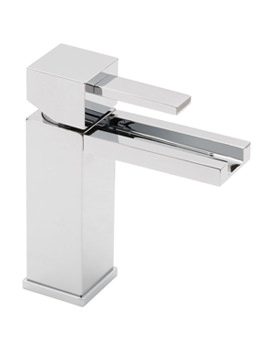 Te Falls Mono Basin Mixer Tap With Waterfall Spout - TEF-100-SB