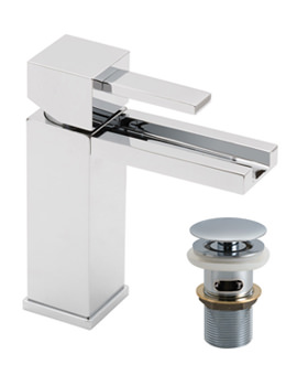 Te Falls Mono Basin Mixer Tap With Waterfall Spout And Waste