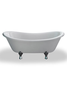 Bateau Traditional Bath 1640x700mm And White Space Age Feet