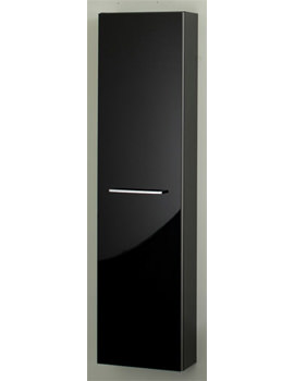RAK Slimline Tall Storage Unit 300mm Black - STDTBYBLK