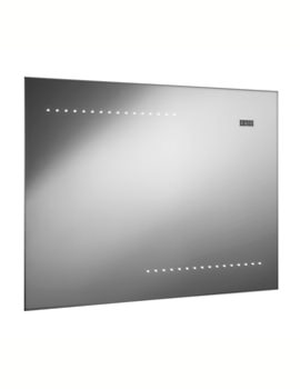 Reflection Shine Mirror With LED Lights And Digital Clock