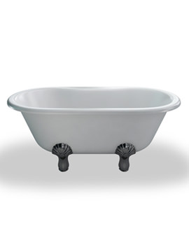 Classic Traditional Bath 1500mm With White Classic Feet