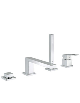 Eurocube 4 Hole Single Lever Chrome Bath Combination Set-19897000
