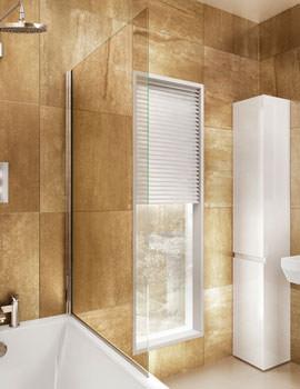 Hinged Bathscreen 850 x 1450mm - BS1