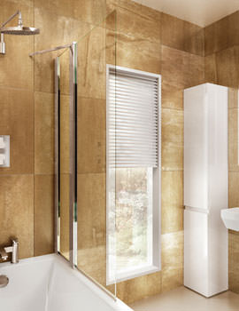 Bathscreen With Fixed Panel 850 x 1450mm - BS2